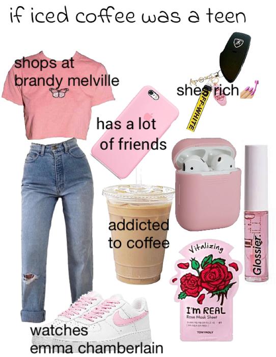 iced coffee as a teen
