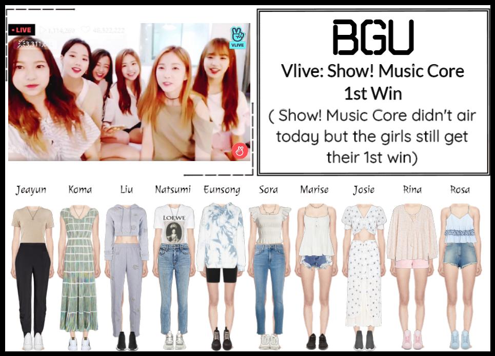BGU Vlive: Show! Music Core 1st Win