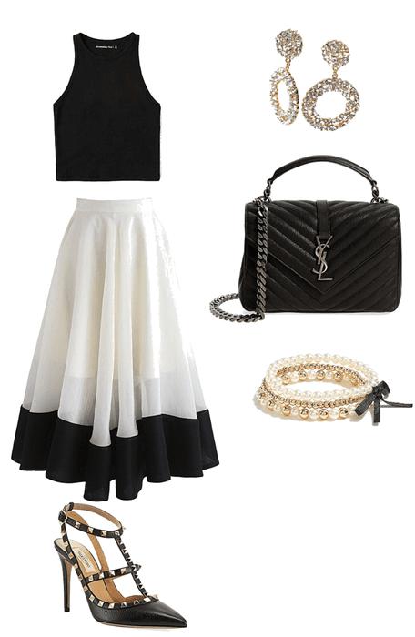 Classy skirt look