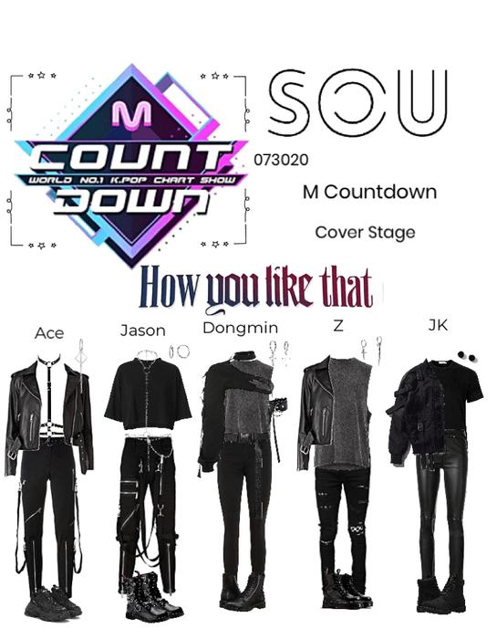 M Countdown (cover stage)- How You Like That by BLACKPINK