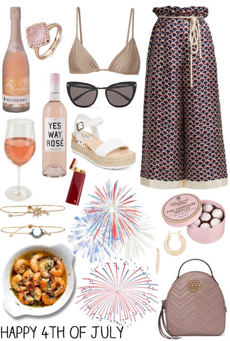 fancy 4th of July in a yacht