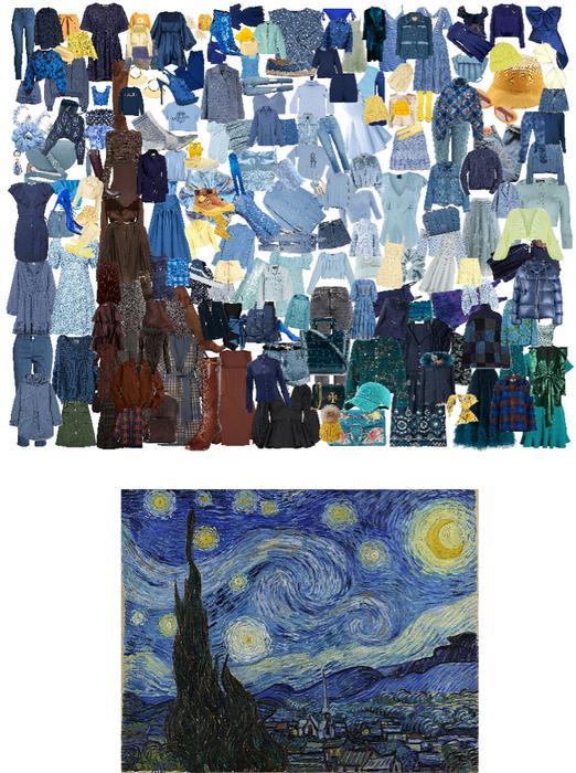 Starry Night Mosaic