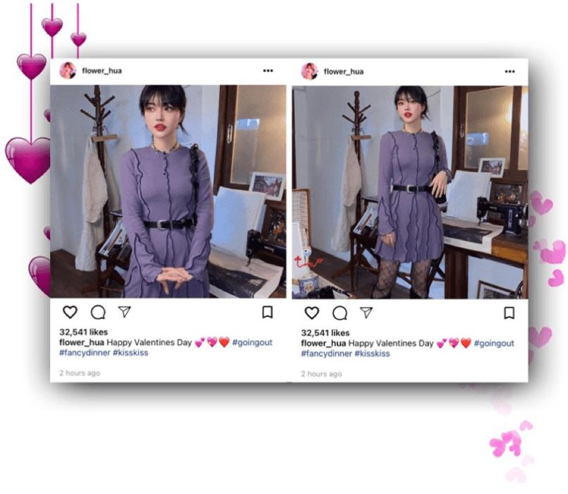 라로그 [𝗟𝗮 𝗥𝗼𝘂𝗴𝗲] - Iris instagram post (14022021)