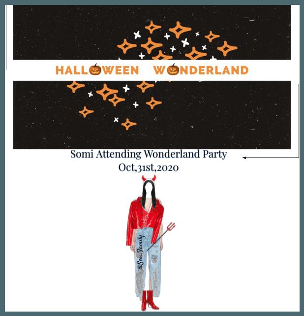 Somi Attending Wonderland Party 10/31/20