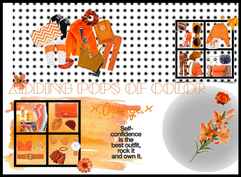 Adding Pops of color: Orange