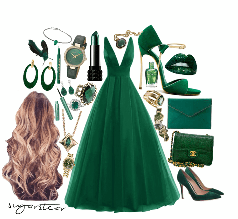 green fancy dress