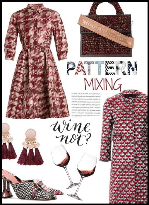 Pattern Mixing/Wine Date