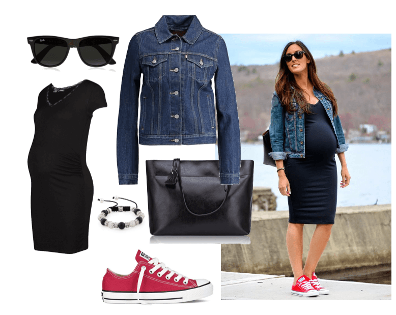 Maternity Casual Chucks Outfit