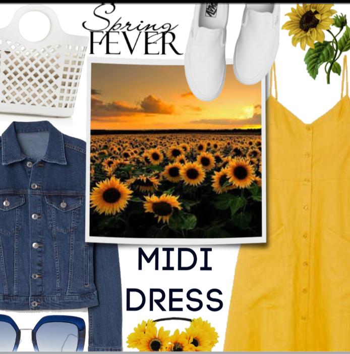 Spring Midi Dress Style