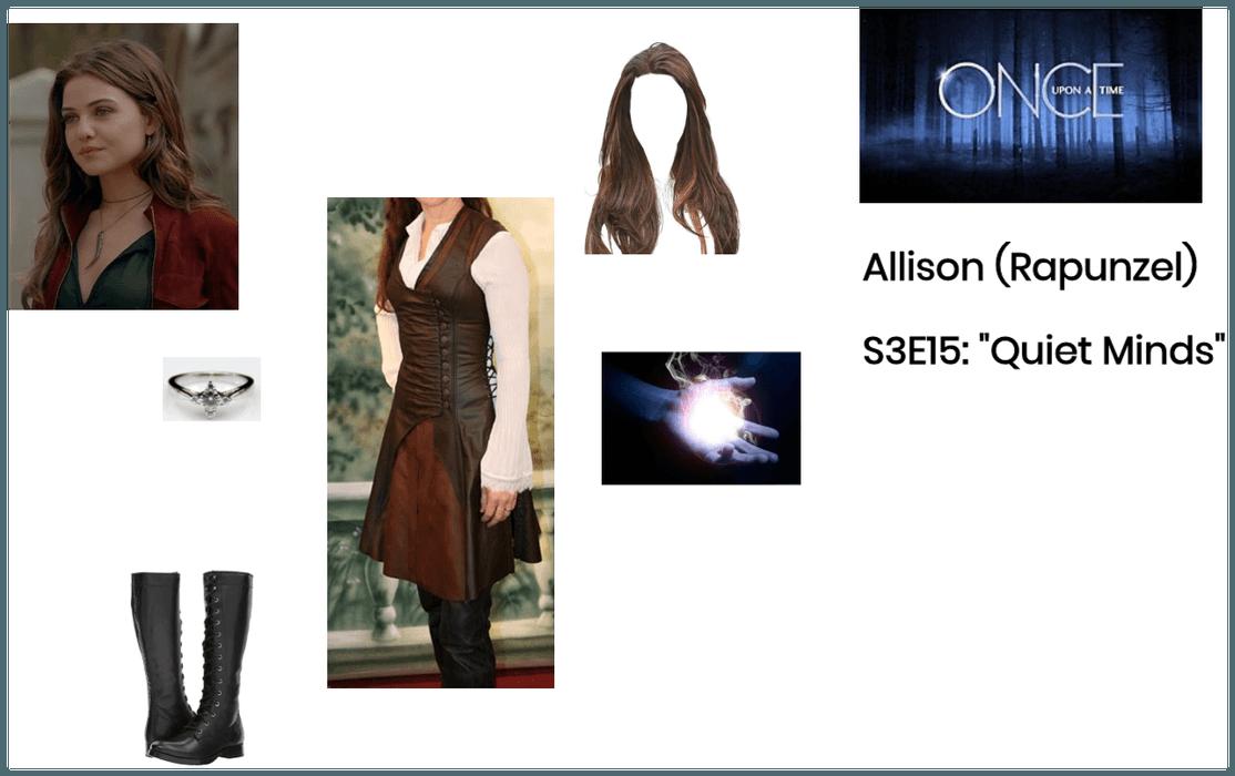 """OUAT: Allison/Rapunzel: Flashback: """"Quiet Minds"""""""