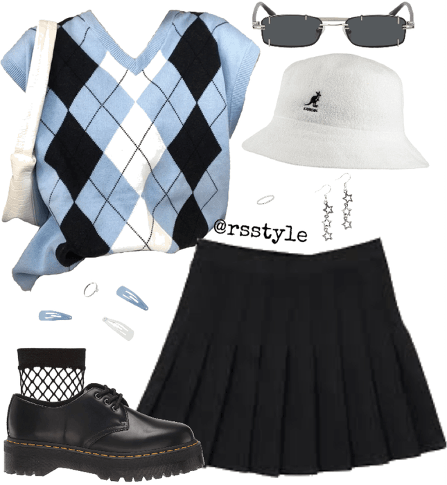 sweater vest outfit