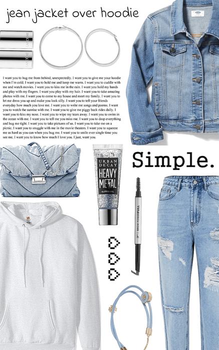 jean jacket over hoodie