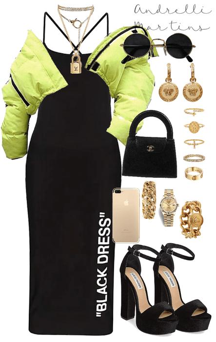 """black dress""  🖤🎾"