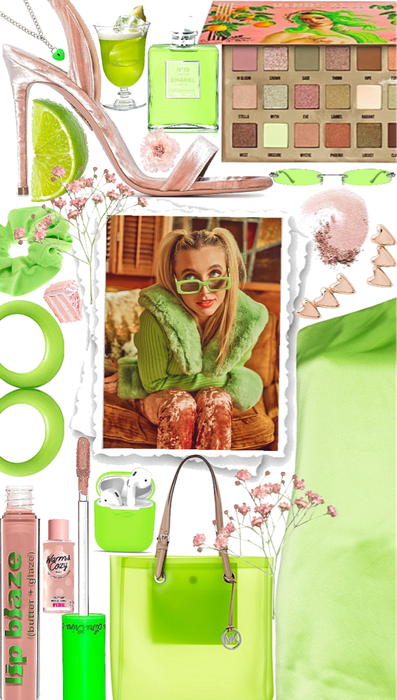 Lime and Pink Emma Chamberlain Style💚💓💚