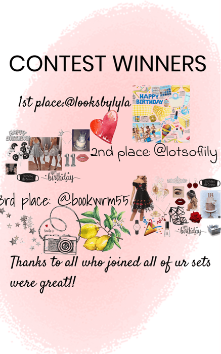 Contest Winners!!!