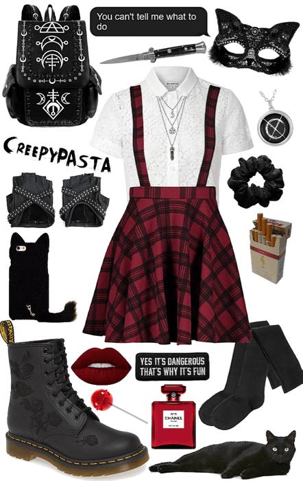creepypasta: OC black cat outfit 1