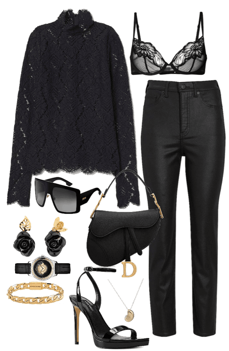 Black and Gold Dior