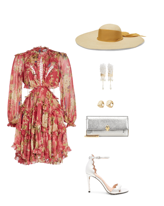 Romantic summer wedding outfit