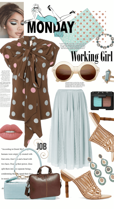 Monday Working Girl in Polka Dots