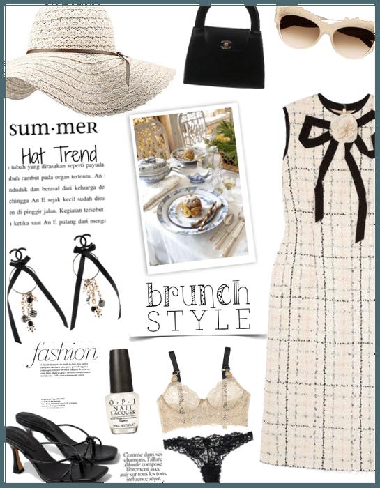 Summer hat trend/Brunch style