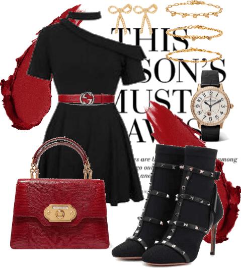 The Little Black Dress & The Little Gucci Belt.