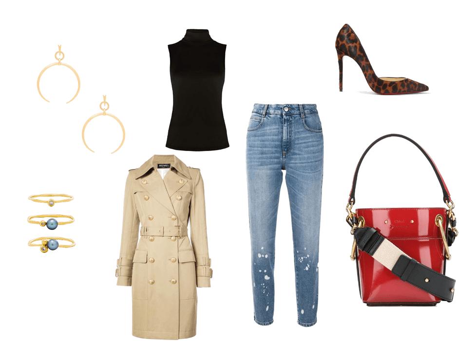 jeans + high heels