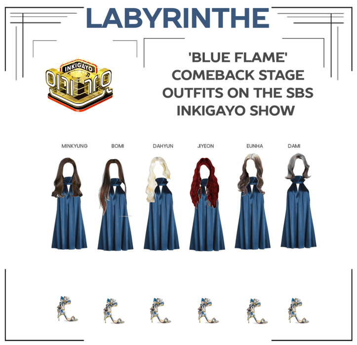 LABYRINTHE BLUE FLAME comeback stage