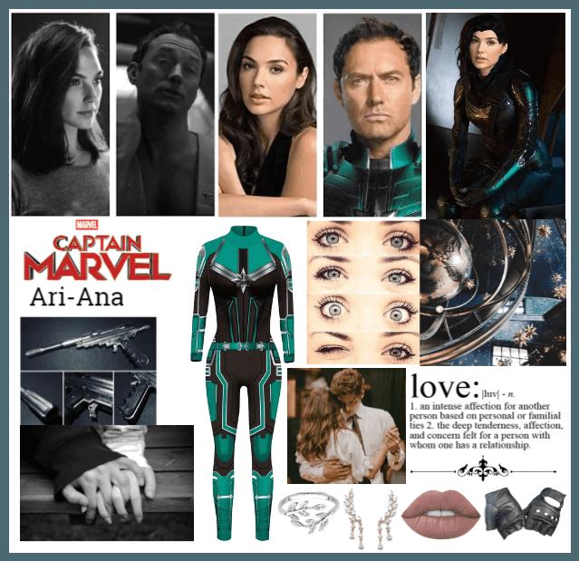 Captain Marvel Oc Yon-Rogg X Oc, (Ari-Ana)