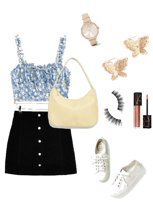casual walking outfit 🦋🖤
