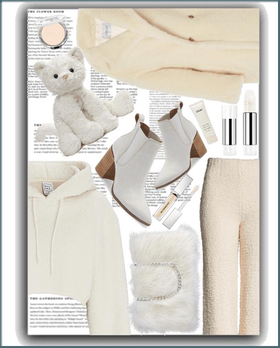 White Snow Fuzzy Textures