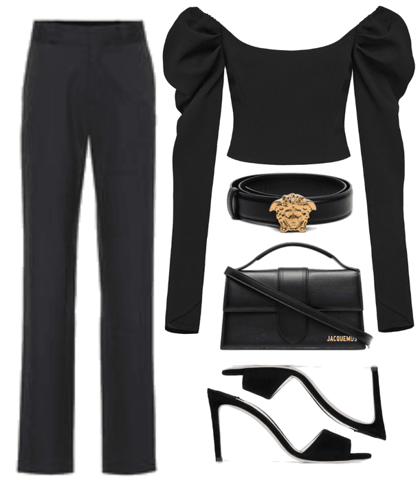 black chic outfit ispired by hailey baldwin bieber