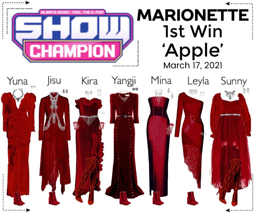 마리오네트 (MARIONETTE) - [SHOW CHAMPION] 'Apple' 1st Win