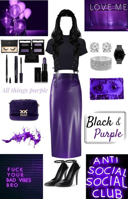 A Black & Purple Midnight Dream