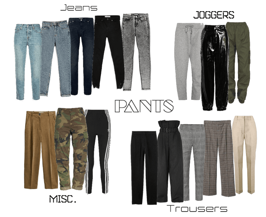 Capsule Wardrobe- Pants Collection
