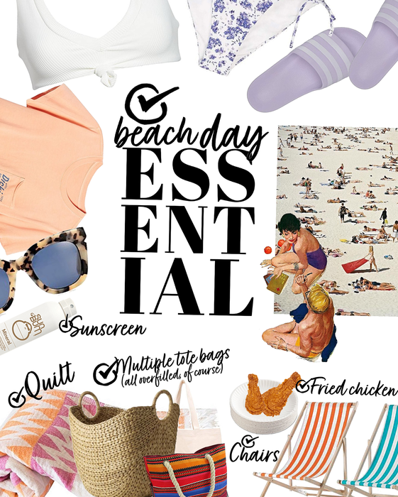 beach day essential checklist