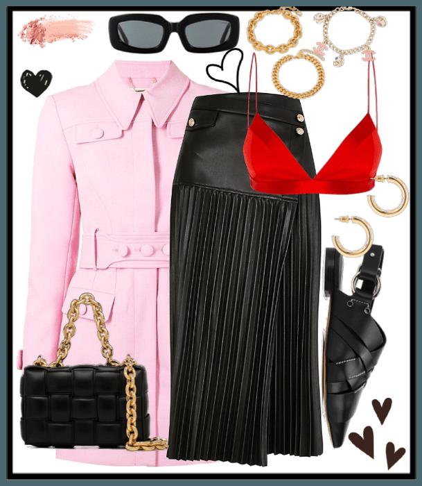 Pastel Challenge- pastel pink coat