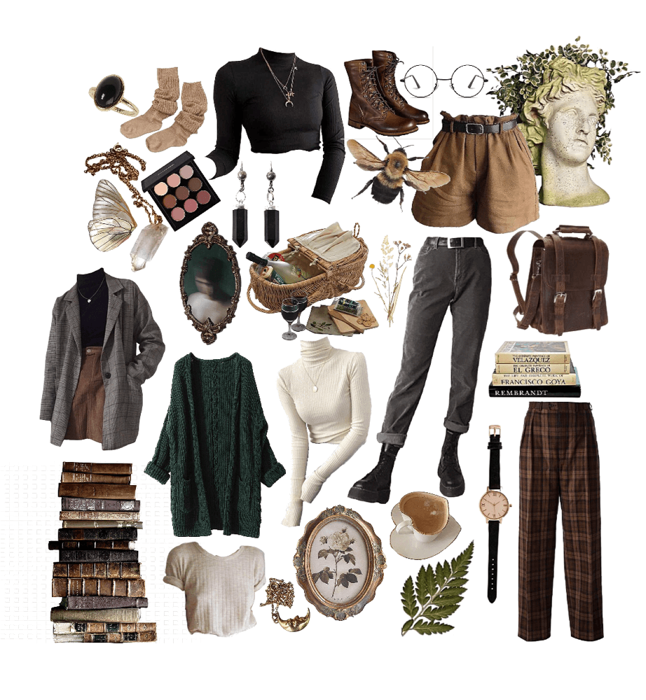 academia dark outfits outfit shoplook aesthetic clothes io inspo guide casual